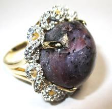 $4,715 Ruby and Sapphire Ring