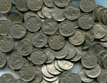 Lot of 80 Buffalo Nickels