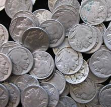 Lot of 100 Buffalo / Indian Head Nickels-