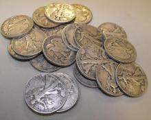 20 Walking Liberty Half Dollars