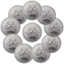 (10) Random Date Canadian Silver Maple Leaf's- 1oz