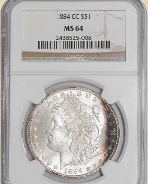 1884-CC Morgan $ MS64 NGC Color