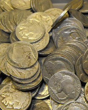 Lot of 75 Buffalo Nickels-