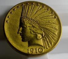 1910 D 4 10 Gold Indian Eagle