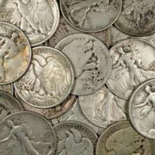 10- Walking Liberty Halves - 90% Silver