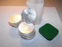 Lot of (20) Random Date Silver Eagles Mint Tube