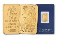 2.5 gram Pamp Suisse Pure Gold on Card