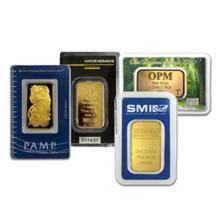 Random Type 1 oz. Gold Bar - Pure .9999