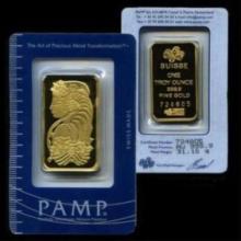 1 oz Pamp Suisse Gold Ingot