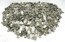 HUGE LOT of (1000) 90% SIlver Mercury Dimes