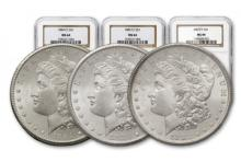 1882 - 1883 - 1884 CC MS 64 NGC Morgan Dollars