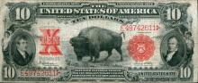 Series 1901 RARE Bison Currency $ 10 G-VG