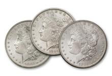 1883-84-85 O BU Morgan Silver Dollars
