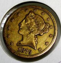 1879 S $ 5 Gold Liberyy Half Eagle