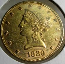 1880 $ 10 Gold Liberty Eagle