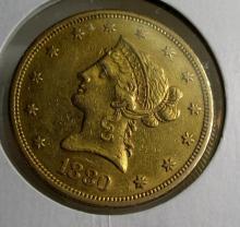 1880 s $ 10 Gold Liberty Eagle