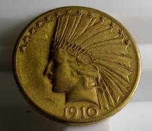 1910 D $ 10 Gold Liberty Eagle