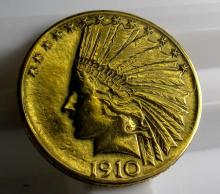 1910 S $ 10 Gold Liberty Eagle