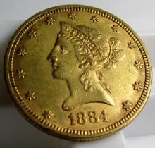 1884 $ 10 Gold Liberty Eagle