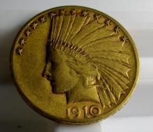 1910 S $ 10 Gold Indian Eagle