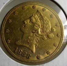 1888 S $10 Gold Liberty Eagle