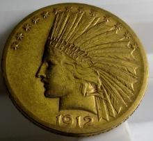 1912 S $ 10 Gold Indian Eagle