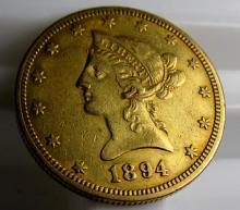 1894 O $ 10 Gold Liberty Eagle