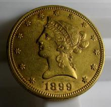 1899 $ 10 Gold Liberty Eagle