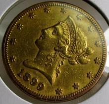 1899 S $ 10 Gold Liberty Eagle