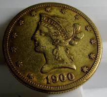 1900 S $ 10 Gold Liberty Eagle