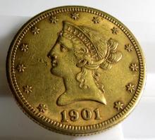 1901 s $ 10 Gold Liberty Eagle