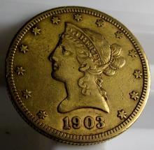 1903 S $ 10 Gold Liberty Eagle