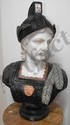 Hand Carved Solid Marble and Alabaster Bust