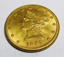 1897 P $10 AU Plus Grade Liberty Gold The item is