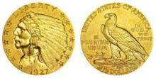 1927 $ 2.5 Gold Indian Quarter Eagle