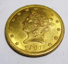 1901 P $10 Uncirculated Gold Liberty Head Coin