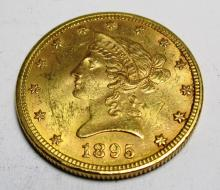 1895 P $10 AU Grade Liberty Head Coin The item is