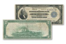1918 $ 2 FRN BATTLESHIP VG Plus