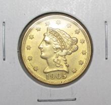 1905 P $ 2.5 Gold Liberty HIGH GRADE BU
