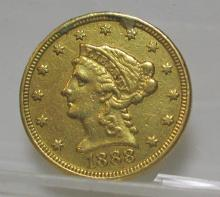 1888 $ 2.5 Gold Liberty F-XF