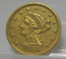 1854 $ 2.5 Gold Liberty