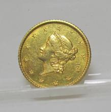 1851 $ 1 Type One Gold Liberty Dollar
