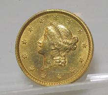 1853 $ 1 Gold Liberty Type One