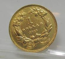 1862 Princess Civil War Era $1 Gold Coin