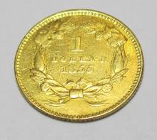 1855 TYPE II Princess Gold $ 1 Coin