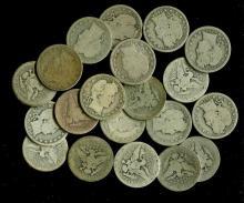 (20) Barber Quarter Dollars  - Mixed
