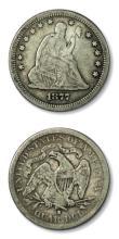 1877 S Seated Liberty Quarter Dollar