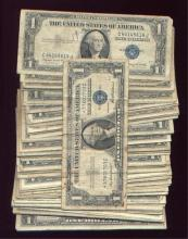 (100) Silver certificates - Circulated