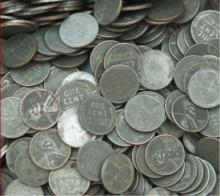 Lot of  100 Steel War Cents- g-xf Grades