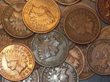 60 INDIAN HEAD PENNIES- CENTS-goods